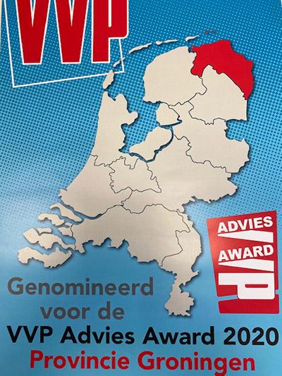 Genomineerd voor de VVP Advies Award 2020 - Provincie Groningen